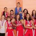 Победители  областных соревнований по баскетболу (девушки 10 класс)